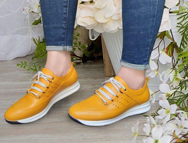 کفش کتونی زنانه مدل gcw-2501 رنگ زرد